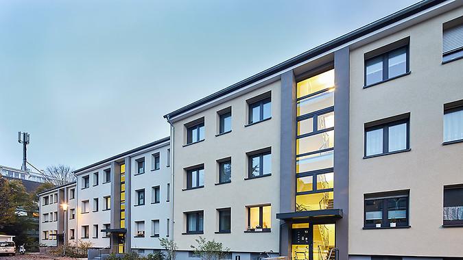 Sanierung von 15 Mehrfamilienhäusern