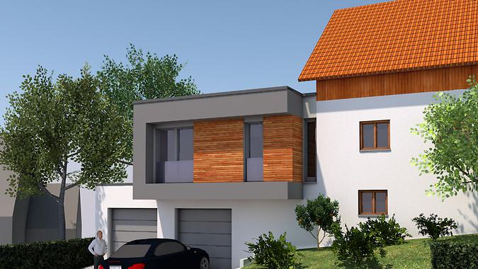 Erweiterung eines Einfamilienhauses